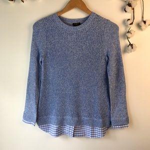 Talbots Petites Blue Pima Cotton Sweater P